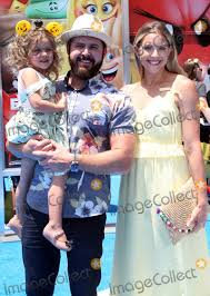 """Photos and Pictures - 23 July 2017 - Westwood, California - A. J. Buckley, Abigail  Ochse and Willow Phoenix Buckley. """"The Emoji Movie"""" World Premiere held at  Regency Village Theatre. Photo Credit: F. Sadou/AdMedia"""