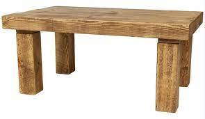 chunky solid wood coffee table coffee