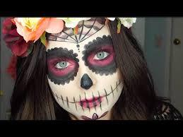 sugar skull makeup half face makeup