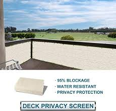 Amazon Com Coarbor Privacy Fence Screen Mesh For Balcony Porch Verandah Deck Terrace Patio Backyard Railing 160gsm Up To 90 Blockage 3 X25 Beige Garden Outdoor