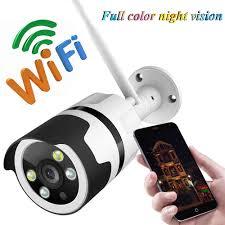 1080P Camera Ip Camera Wifi 720P Camera Quan Sát Camera Giám Sát An Ninh 2  Chiều Màu Tầm Nhìn Ban Đêm Ngoài Trời Viên Đạn chống Thấm Nước|