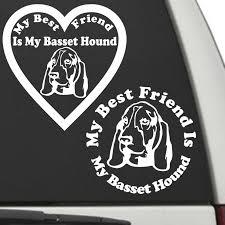 Basset Hound My Best Friend Is My Dog Decal Sunburst Reflections