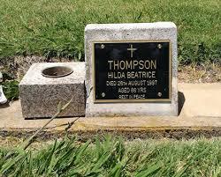 Hilda Beatrice Thompson (Ryan) (1910 - 1997) - Genealogy