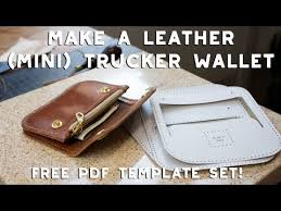 making a leather mini trucker wallet