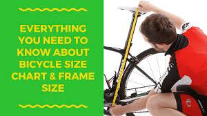 bike size chart bike frame sizes