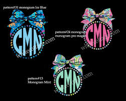 Bow Monogram Bow Decal Lilly Inspired Iphone Decal Yeti Decal Tumbler Decal Car Window Decal Our White Cottage
