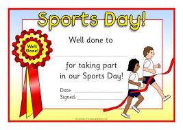 Sports Day Certificates (SB8249) - SparkleBox
