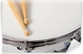 A New Silver Snare Drum With Sticks On A White Background Wall Mural Pixers We Live To Change