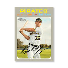 Adam Frazier 2020 Topps Heritage Baseball Base Cards Poster # to ...