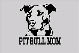 Pitbull Mom Decal Sticker Car Window Bumper Wall I Love My Rescue Dog 4 Inches Ebay