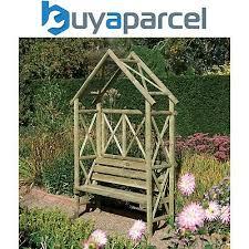 rowlinson rustic wooden garden arch