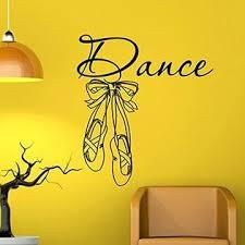 Ballet Wall Decal Vinyl Sticker Ballet Shoes Slippers Ballerina Dance Wall Decals Girls Bedroom Nursery Dorm Wall Murals Home