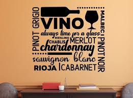 Wine Wall Decal Wine Bar Decor Wine Decal For Wall Bar Wall Decor Wine Decal Subway Art