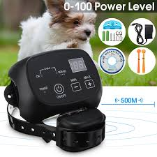 Safety Pet Dog Electric Fence With Waterproof Dog Electronic Training Collar Electric Dog Fence Containment System Aliexpress