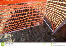 Orange Safety Net In A Road Construction Site Stock Image Image Of Optical Works 90412819