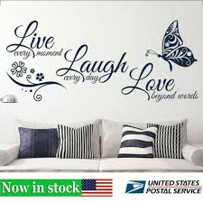 Live Laugh Love Quotes Butterfly Wall Art Stickers Living Room Decal Home Decor For Sale Online