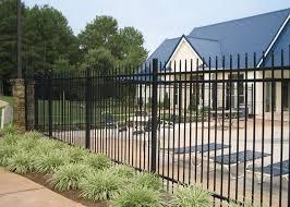 Black Decorative Metal Fencing Ornamental Iron Fence Panels 40 40mm Horizontal Rail