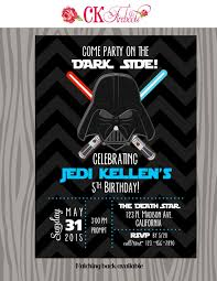 Vintage Inspired Darth Vader Star Wars Birthday Invite