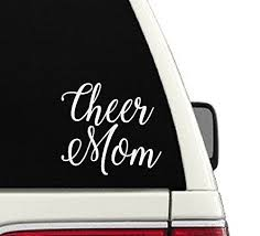 Amazon Com Cheer Mom Car Decal Handmade