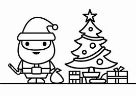 Kleurplaat Kerstman Met Kerstboom Kleurplaten Kerstman Gratis