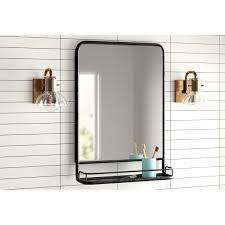 contemporary entry mirror with shelf