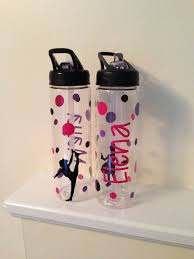 Personalized Ballet Dance Water Bottles Vinyl Decal Bpa Free On Etsy 13 00 Water Bottle Bottle Water Bottle Decals Vinyls