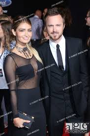 Actor Aaron Paul and his wife Lauren Parsekian attend the premiere of Need  For Speed at TCL Chinese..., Stock Photo, Picture And Rights Managed Image.  Pic. PAH-46920701   agefotostock