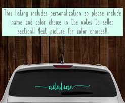 Car Name Decal Personalized Car Decal Custom Vinyl Car Etsy