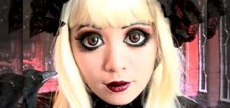 gothic doll makeup look inspired