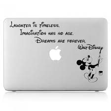 Dream Are Forever Mickey Mouse Quote Laptop Macbook Vinyl Decal Sticker