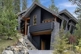 modern rustic homes with black