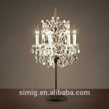 crystal chandelier table top lamps 센