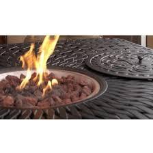 cast aluminum patio fire pit dining set
