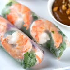 Shrimp Spring Rolls with Peanut Dipping ...