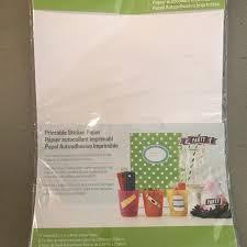 Cricut Other Printable Sticker Paper Nwot Poshmark