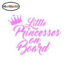 Hotmeini Little Princesses On Board Crown Car Decal Vinyl Sticker 15cm 11 5cm Car Stickers Aliexpress