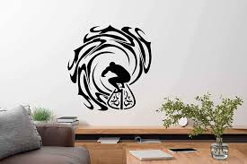 Amazon Com Fsds Surfing Sea Wall Art Stickers Vinyl Wall Decals For Man And Woman Inspirational Surfer Ocean Extreme Wave Wall Decal Sports Wall Decals For Bedroom Boy Living Room