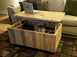 reclaimed pallet coffee table with lift
