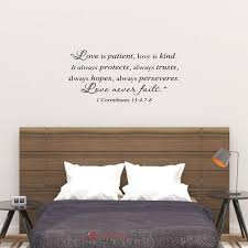 Love Is Patient Love Is Kind Wall Decal 1 Corinthians 13 4 7 Etsy