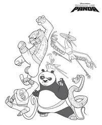 Kids N Fun 10 Kleurplaten Van Kung Fu Panda