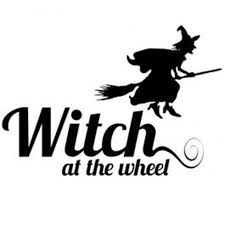 Witch At The Wheel Vinyl Decal Vinyl Sticker Wiccan Pagan Etsy