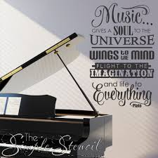 Music Room Wall Decal Music Quote By Plato Removable Stickers Wall Art