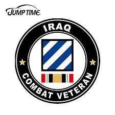 Jumptime 13cm X 13cm For Iraq Combat Veteran Vinyl Sticker Car Truck Window Decal Military War Bumper Truck Car Accessories Car Stickers Aliexpress