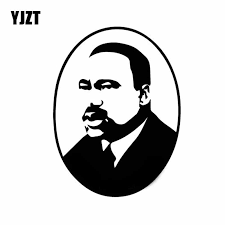 Yjzt 12cm 16 1cm Baptist Minister Activist Martin Luther King Vinyl Decal Car Sticker Cool Black Silver C27 0224 Car Stickers Aliexpress