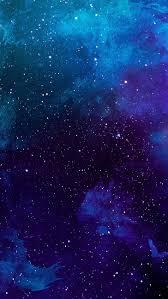 blue galaxy ilration digital art