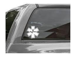 Star Of Life Emt Cardiac Emergency Medical Star Nurse Vinyl Decal Sticker Ebay
