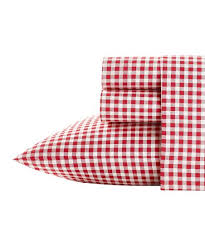 red white gingham sheet set