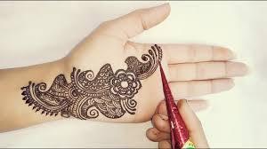mehndi design simple small hand