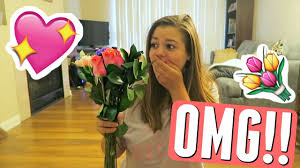 Image result for surprised woman valentines gift