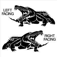 Crocodile Alligator Swamp Creature Reptile Vinyl Wall Art Sticker Decal Ebay Sticker Wall Art Alligator Alligator Tattoo